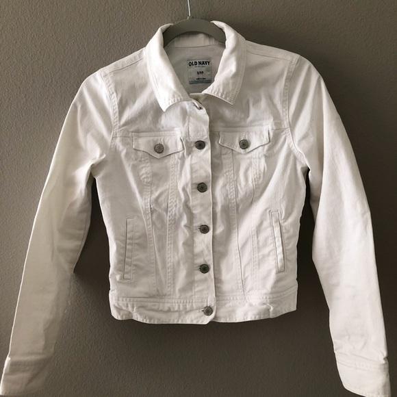 Old Navy Jackets & Blazers - Old Navy white jean jacket